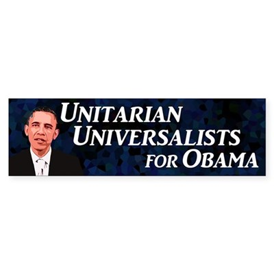 Unitarians for Obama bumper sticker