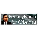 Pennsylvania for Obama bumper sticker