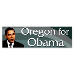 Oregon for Barack Obama bumper sticker