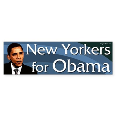 New Yorkers for Obama bumper sticker
