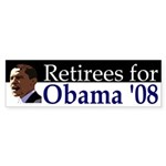 Retirees for Obama '08 bumper sticker