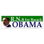 RNs for Barack Obama bumper sticker