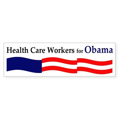 Health Care Workers for Obama sticker