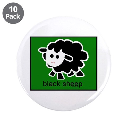 Black Sheep  Family 3.5 Button 10 pack by CafePress