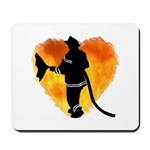 Firefighters love putting out the flames and our design features a fireman, heart of fires and his attack hose!