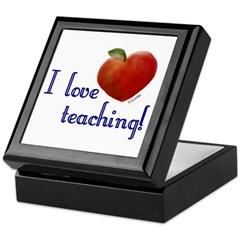 I Love Teaching Keepsake Box