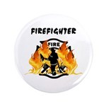 "Firefighter Silhouette 3.5"" Button"