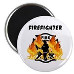 "Firefighter Silhouette 2.25"" Magnet (100 pack"