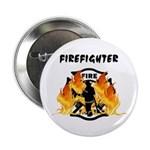 "Firefighter Silhouette 2.25"" Button (10 pack)"