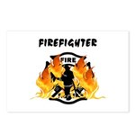 Firefighter Silhouette Postcards (Package of 8)