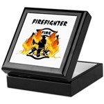 Firefighter Silhouette Keepsake Box