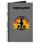 Firefighter Silhouette Journal