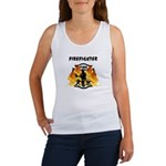 Firefighter Silhouette Women's Tank Top