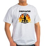 Firefighter Silhouette Light T-Shirt