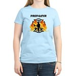Firefighter Silhouette Women's Light T-Shirt