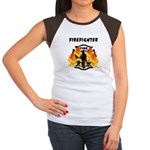 Firefighter Silhouette Women's Cap Sleeve T-Shirt