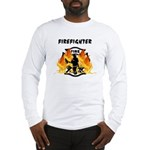 Firefighter Silhouette Long Sleeve T-Shirt