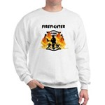 Firefighter Silhouette Sweatshirt