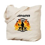 Firefighter Silhouette Tote Bag