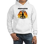 Firefighter Silhouette Hooded Sweatshirt