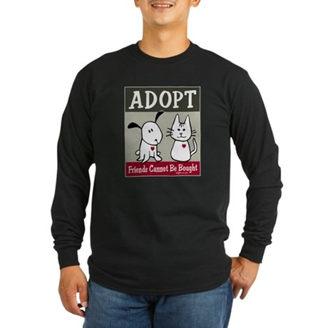 Adopt a Pet Long Sleeve Dark T-Shirt