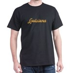 Louisiana Distressed Script White T-Shirt