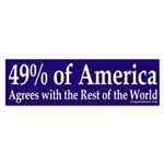 49% of America (bumper sticker)