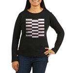 Black and White Weave Long Sleeve T-Shirt