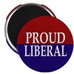"Proud Liberal 2.25"" Magnet (100 pack)"