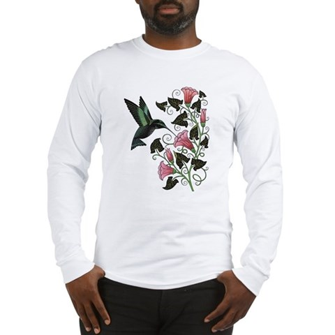 Garden Hummingbird Hummingbird Long Sleeve T-Shirt by CafePress