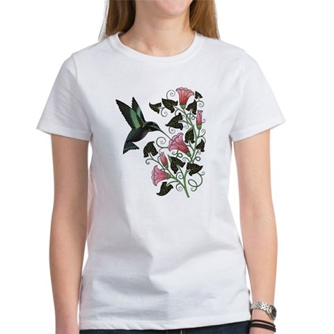 Garden Hummingbird  Hummingbird Women's T-Shirt by CafePress