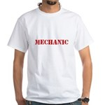 Mechanic Red Stencil Design T-Shirt