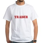Trader Red Stencil Design T-Shirt