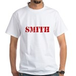 Smith Red Stencil Design T-Shirt