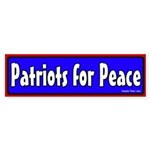 Patriots for Peace Bumper Sticker