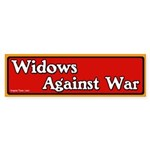 Widows Against War Bumper Sticker