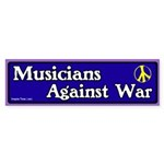 Musicians against war bumper sticker