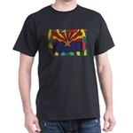 Arizona Flag On Stained Glass T-Shirt