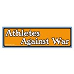 Athletes against war bumper sticker