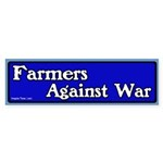 Farmers against war bumper sticker