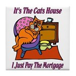Cats House Tile Coaster
