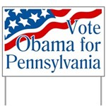 Vote Obama for Pennsylvania Lawn Sign