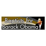 Baptists for Barack Obama bumper sticker