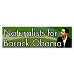 Naturalists for Barack Obama bumper sticker