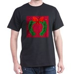 Christmas Wreath and Ribbon T-Shirt