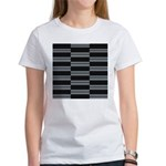 Gray and Black Weave T-Shirt