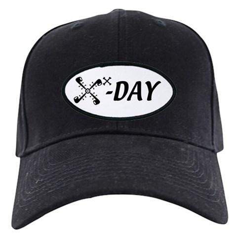 10X-Day Official  Funny Black Cap by CafePress