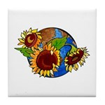 Sunflower Planet Tile Coaster