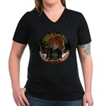 Knotted Fists Women's V-Neck Dark T-Shirt