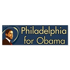 Philadelphia for Obama bumper sticker